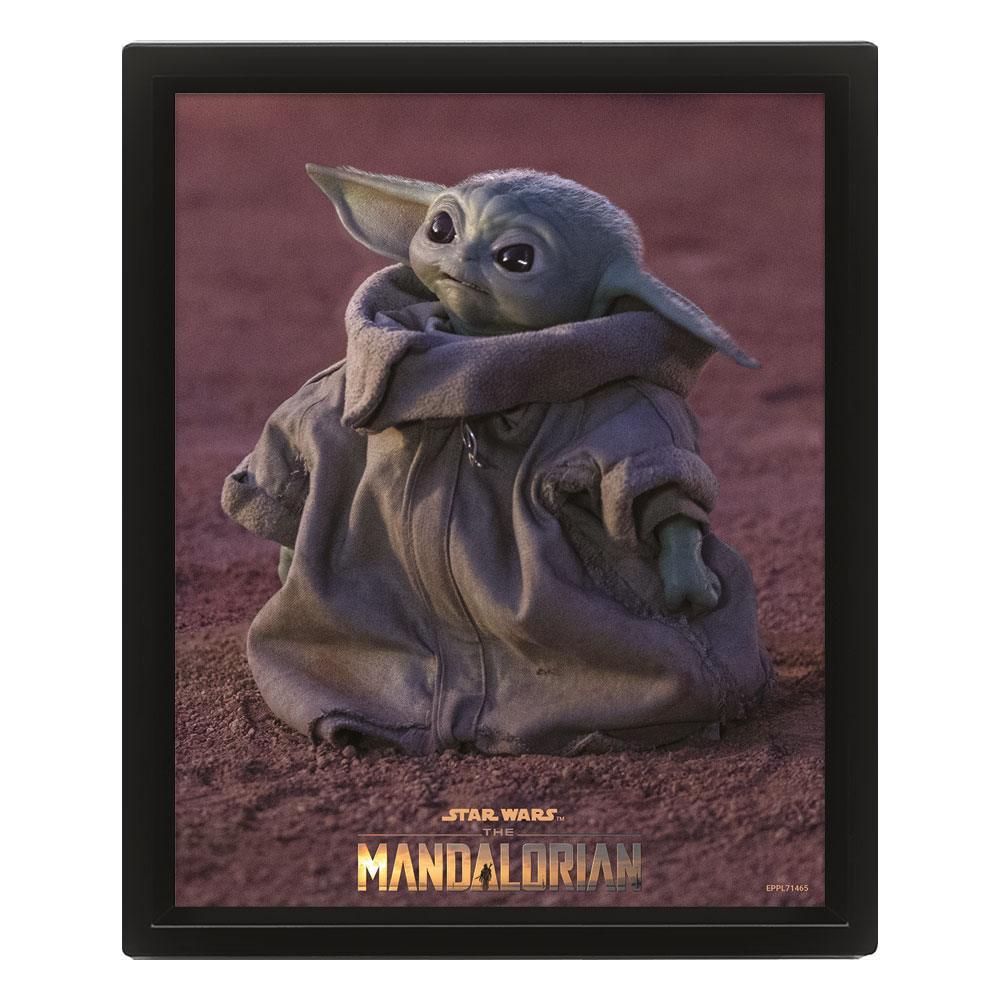 Star Wars: The Mandalorian Framed 3D Effect Poster Pack Grogu 26 x 20 cm (3)