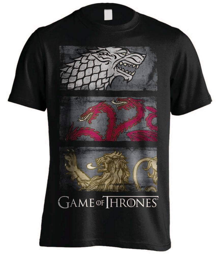 Game of Thrones T-Shirt 3 Sigils Row Size L