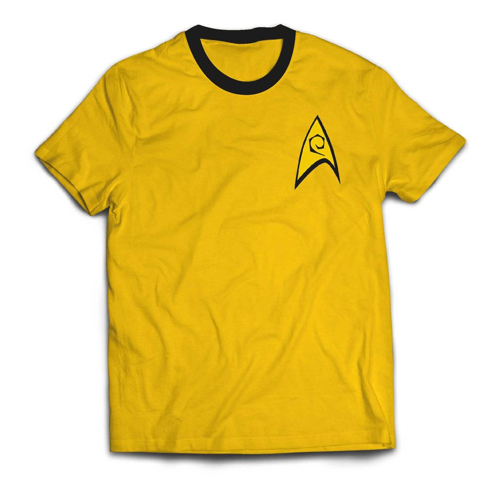 Star Trek Ringer T-Shirt Command Uniform  Size S