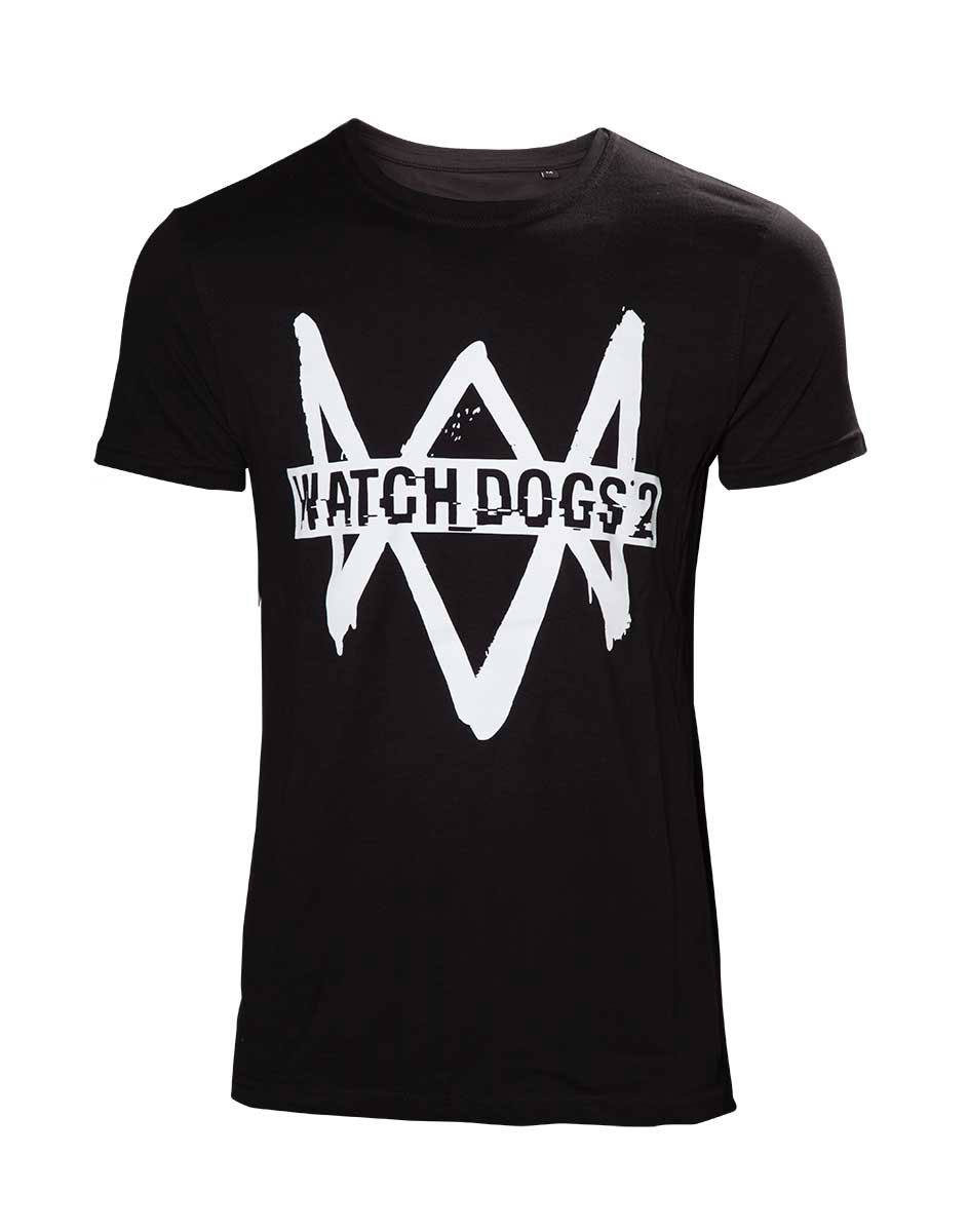 Watch Dogs 2 T-Shirt Logo Text Size S