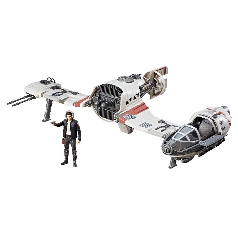 Star Wars Episode VIII Force Link Class C Vehicle with Figure 2017 Resistance Ski Speeder --- DAMAGED PACKAGING