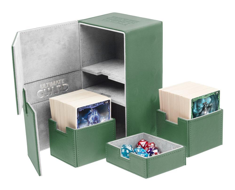 Ultimate Guard Twin Flip´n´Tray  Deck Case 200+ Standard Size XenoSkin Green