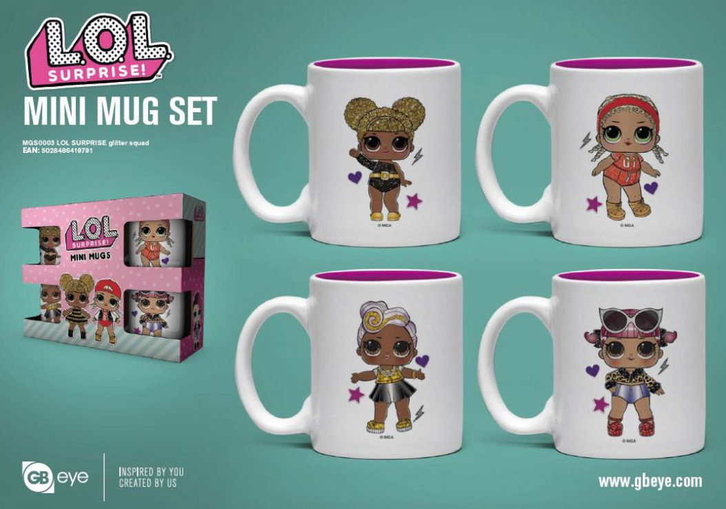 L.O.L. Surprise! Espresso Mugs 4-Pack Glitter Squad