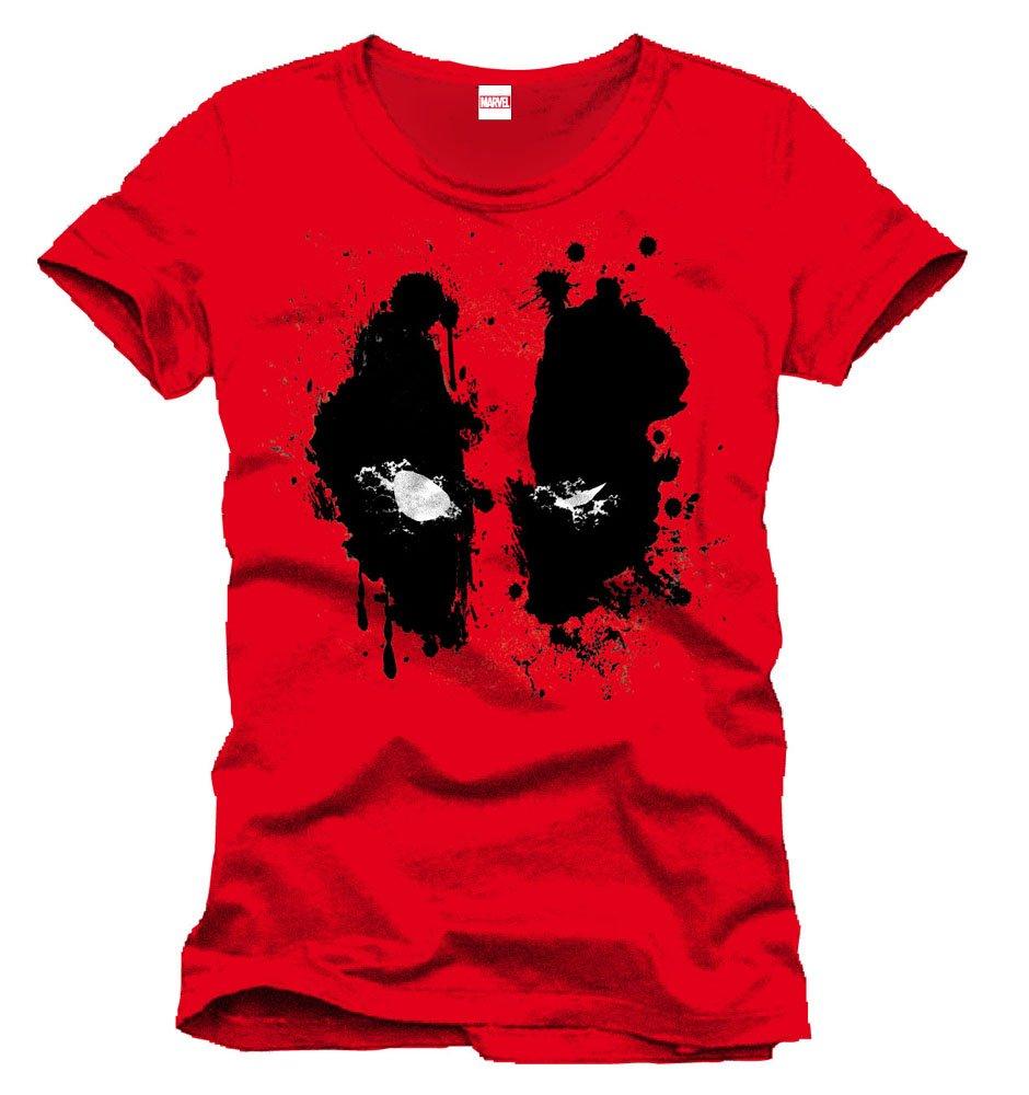 Deadpool T-Shirt Splash Head Size S