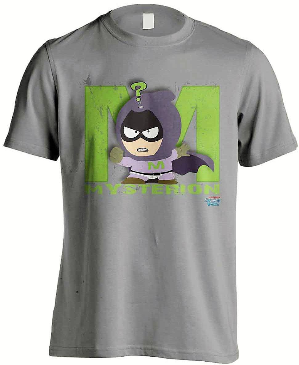 South Park The Fractured But Whole T-Shirt Mysterion Grey Size M
