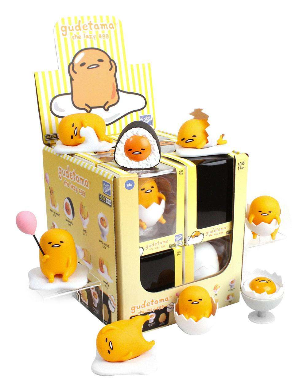 Gudetama Action Vinyls Mini Figures 8 cm Wave 2 Display (12)