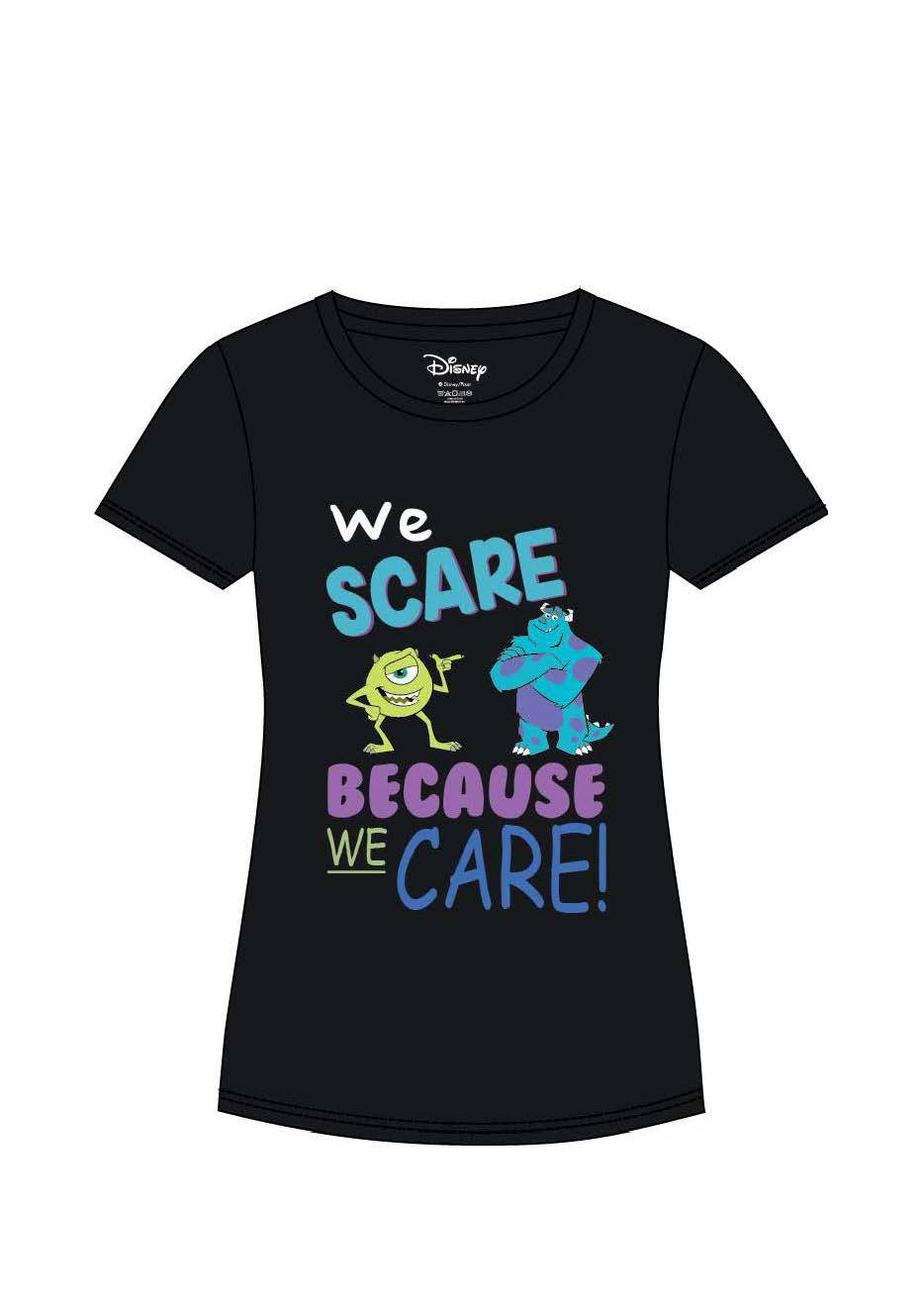 Monsters Inc. Ladies T-Shirt We Scare Because We Care Size XL