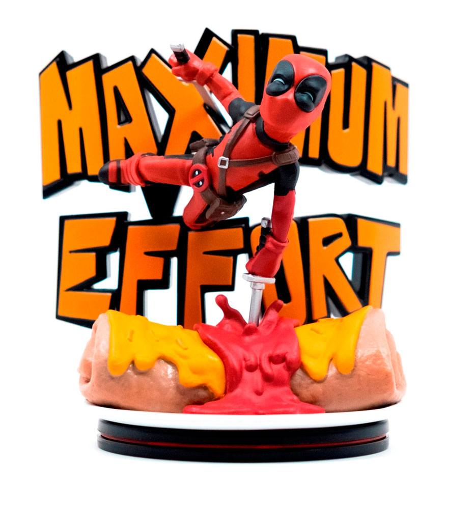 Marvel Q-Fig MAX Diorama Deadpool Maximum Effort 14 cm --- DAMAGED PACKAGING