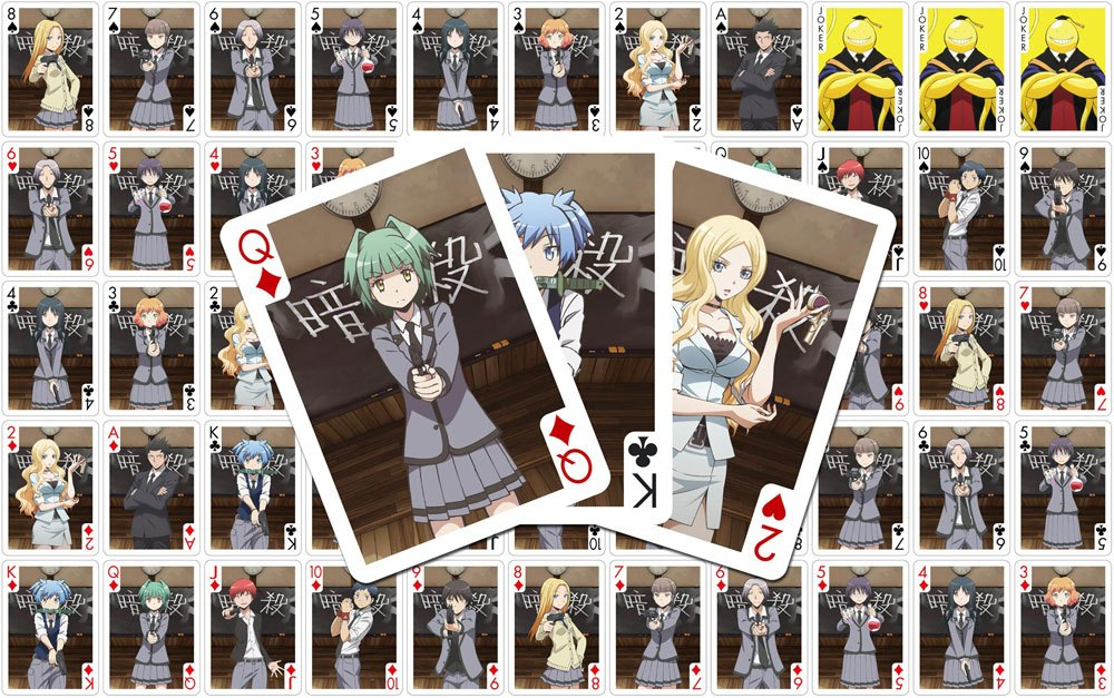Assassination Classroom Playing Cards Characters