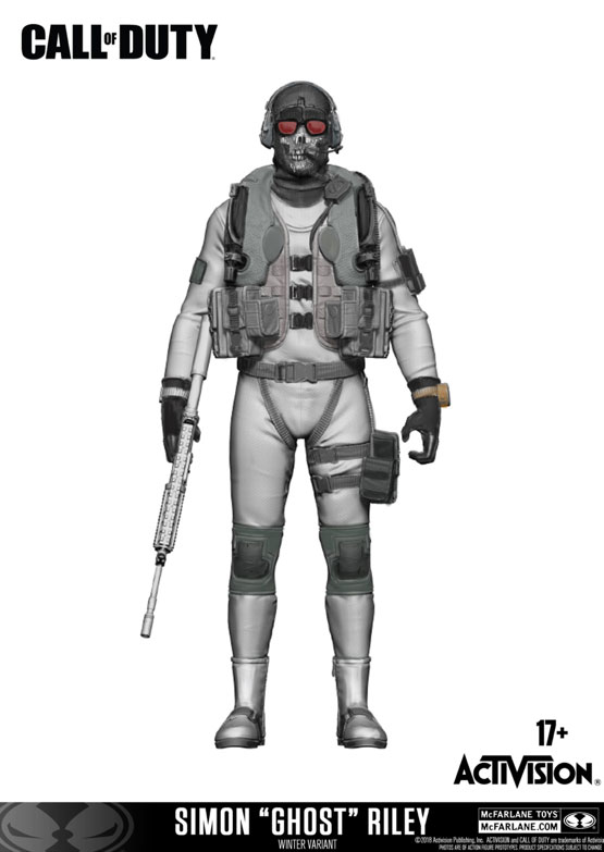 Call of Duty Action Figure Simon 'Ghost' Riley Variant Exclusive 18 cm