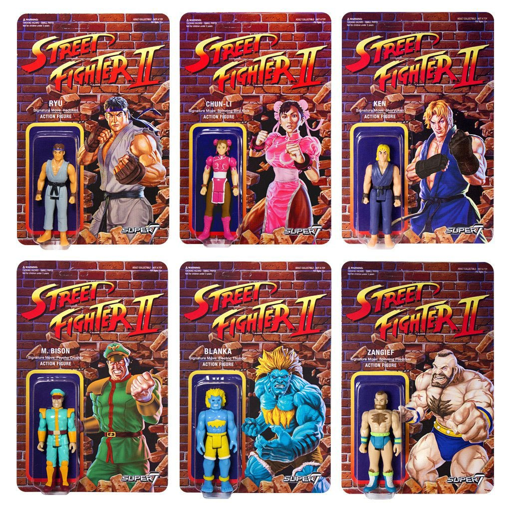 Street Fighter II ReAction Action Figures 10 cm Champions Edition Assortment (6)