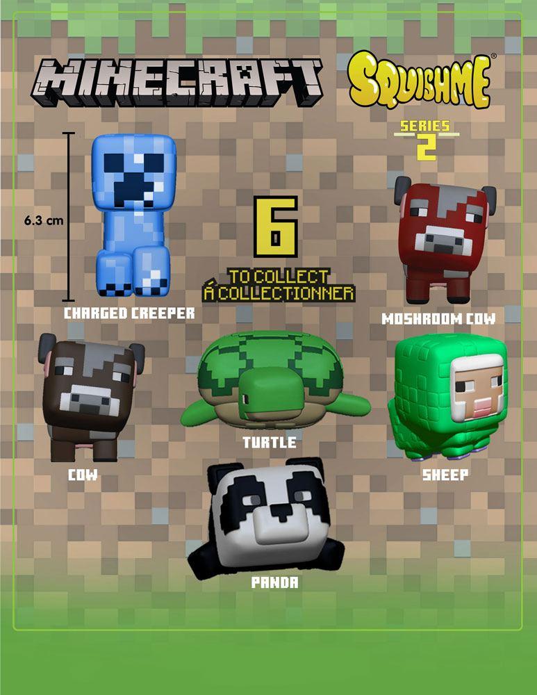 Minecraft Squishme Anti-Stress Figures 6 cm Series 2 Display (12)