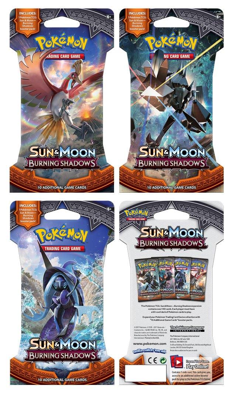 Pokemon Sun and Moon 3 Burning Shadows Sleeved Booster Display (24) *English Version*