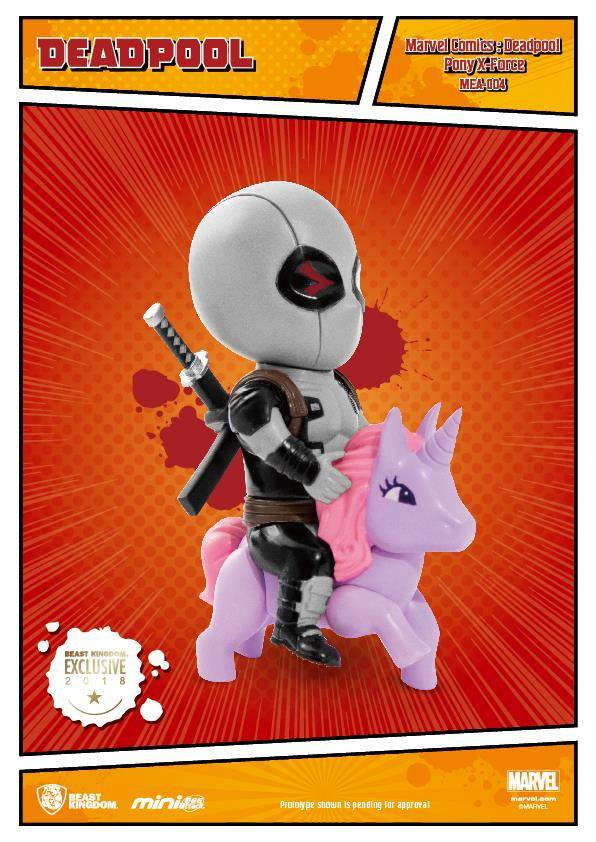 Marvel Comics Mini Egg Attack Figure Deadpool Pony PX X-Force Version 9 cm
