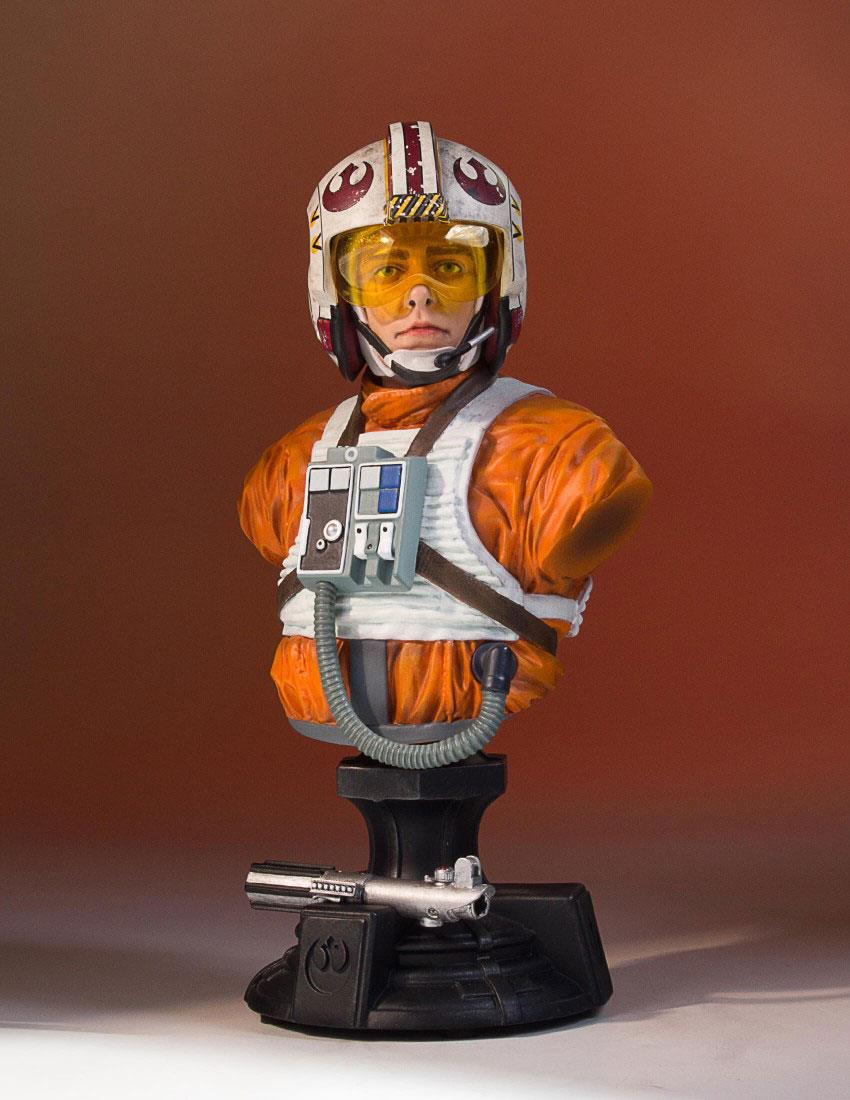 Star Wars Episode IV Bust 1/6 Luke X-Wing Pilot 40th Anniversary SDCC 2017 Exclusive 17 cm