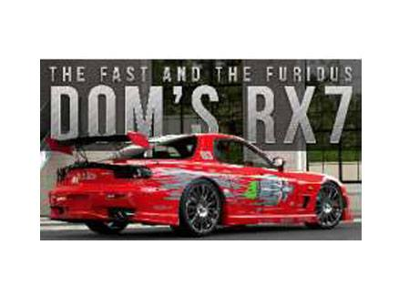 Fast & Furious Diecast Model 1/24 Dom's 1995 Mazda RX-7 --- DAMAGED PACKAGING