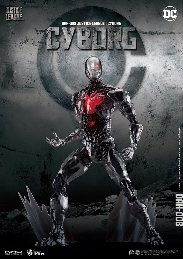 Justice League Dynamic 8ction Heroes Action Figure 1/9 Cyborg 21 cm