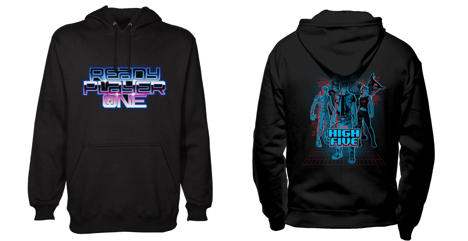 Ready Player One Hooded Sweater High Five Size M