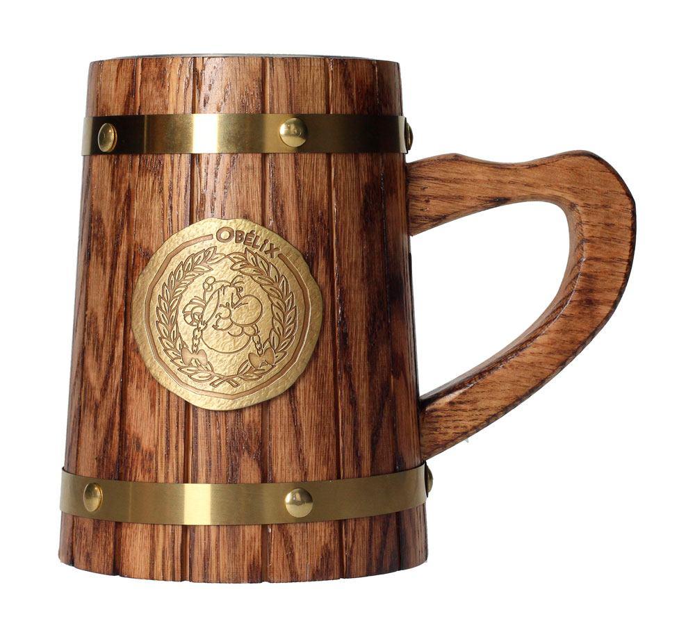 Asterix Wooden Beer Stein Obelix