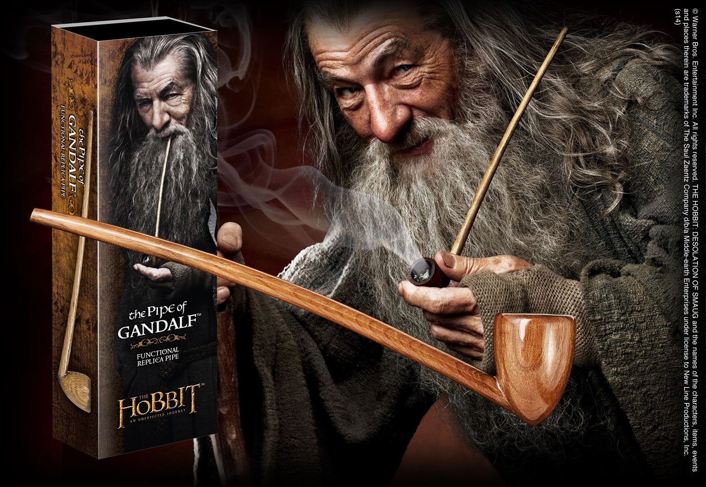 The Hobbit An Unexpected Journey Replica 1/1 The Pipe of Gandalf 23 cm