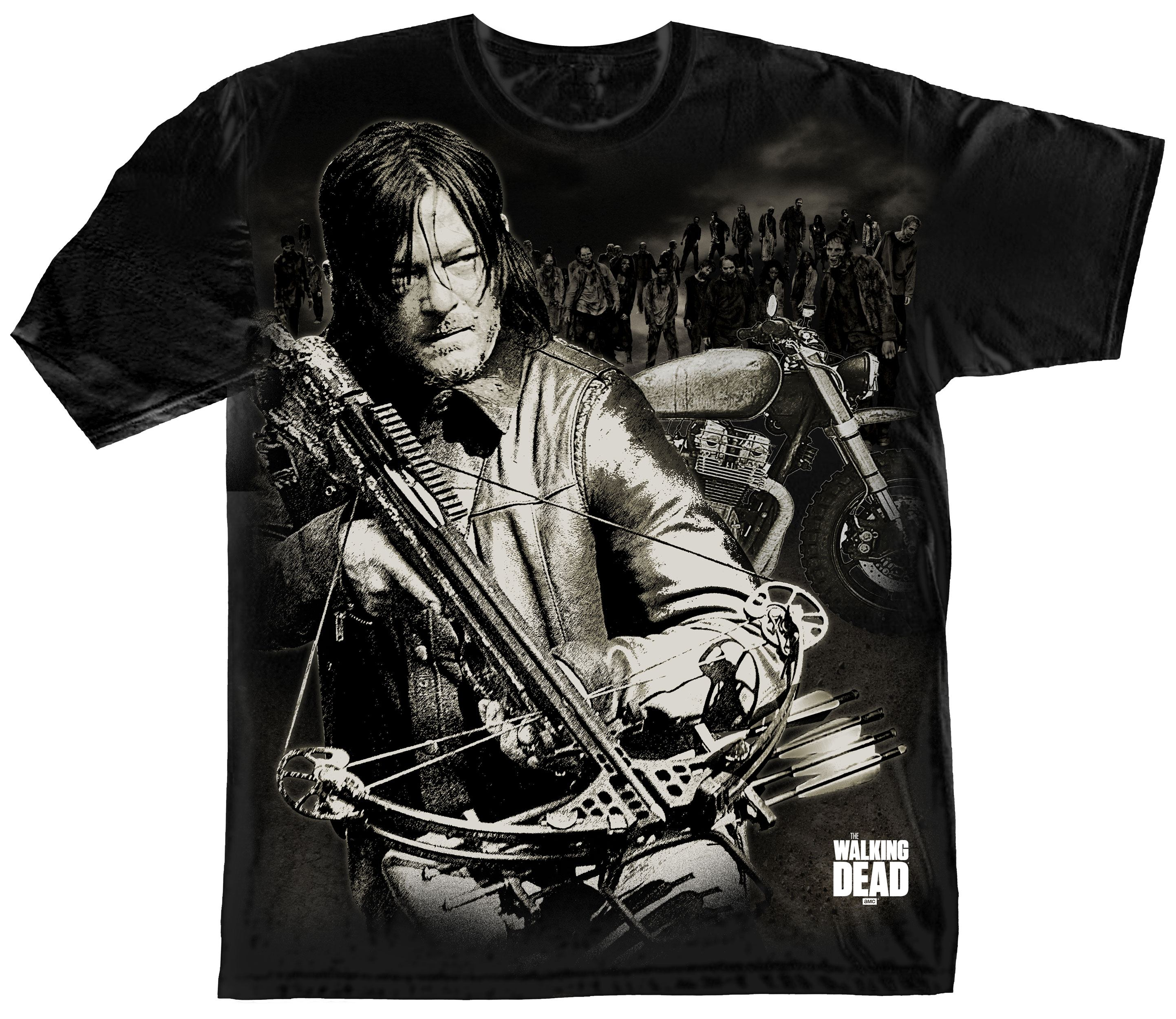 The Walking Dead T-Shirt Dixon Crossbow Ready Size S
