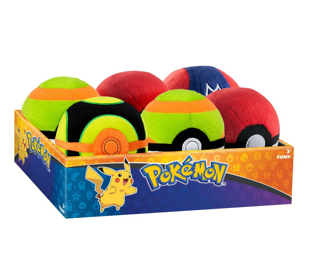 Pokemon Plush Pokeballs 7 cm Display D6 (6)