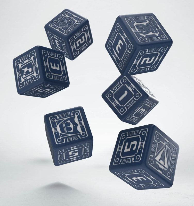 Battletech Dice Set D6 House Steiner (6)