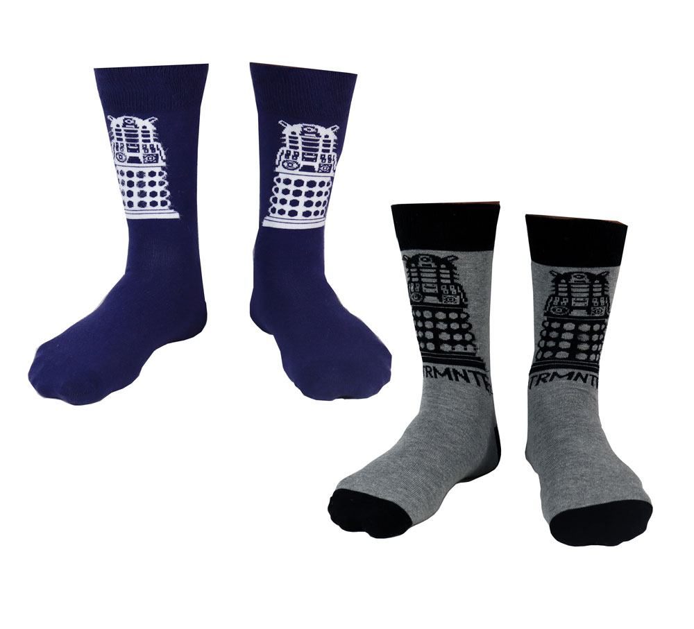 Doctor Who Mens Socks 2-Pack Dalek