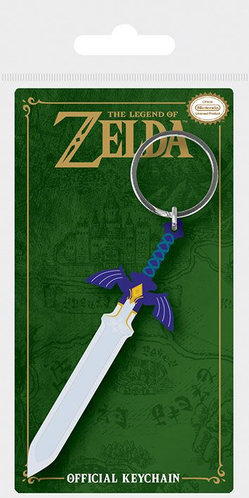 Legend of Zelda Rubber Keychain Master Sword 6 cm