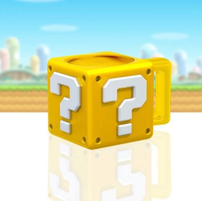 Super Mario Mug Shaped Question Block