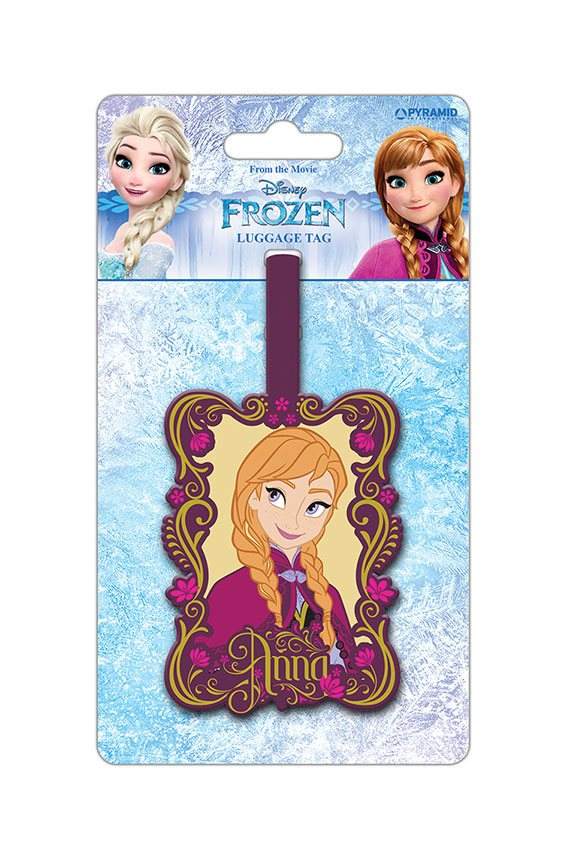Frozen Rubber Luggage Tag Anna