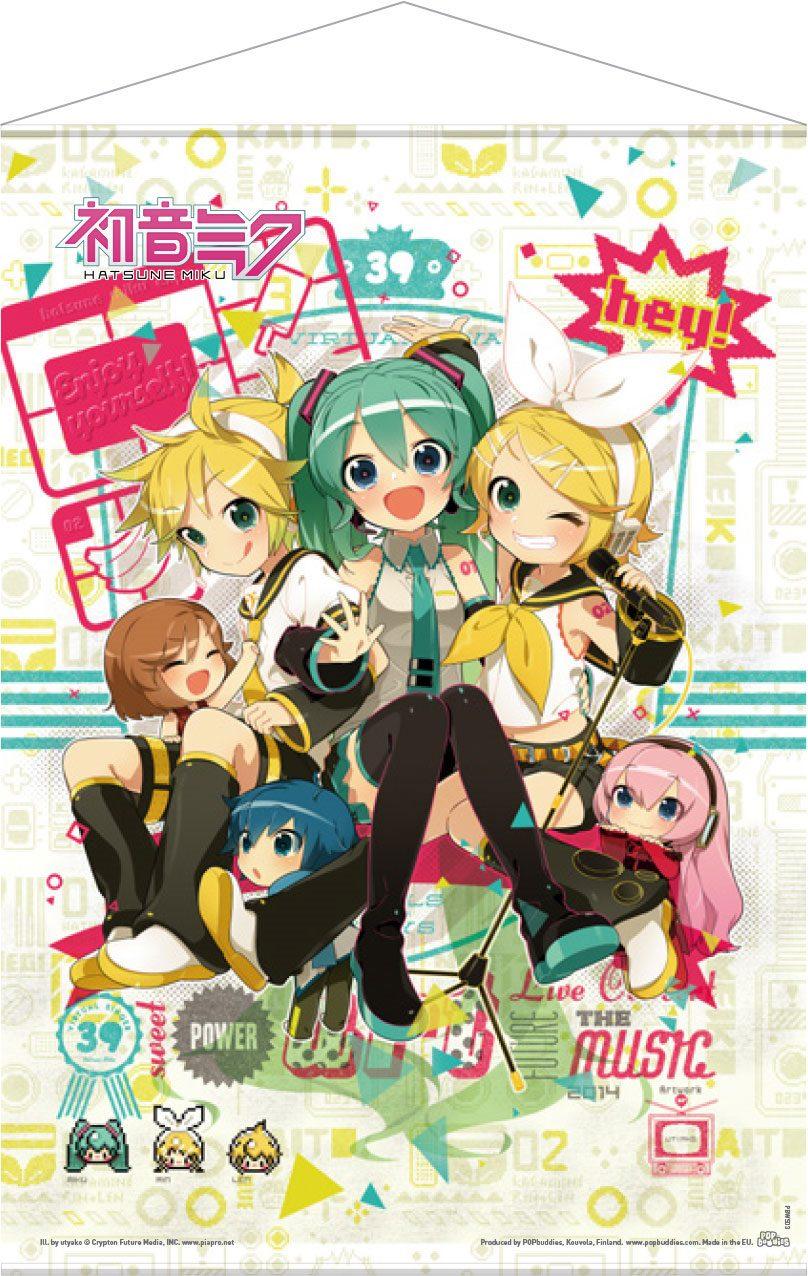 Vocaloid Wallscroll Hey! Piapro Characters 50 x 70 cm