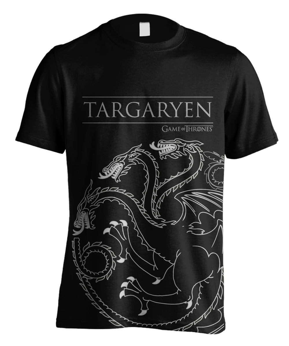 Game of Thrones T-Shirt Targaryen House Outline Size L