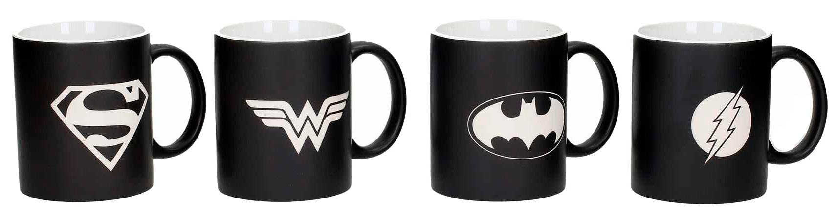 Justice League Mug 4-Pack Logos Collector's Edition