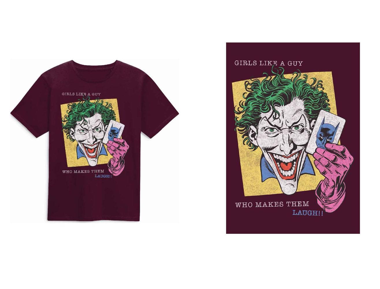 DC Comics T-Shirt Joker Girls Like A Guy Size XL