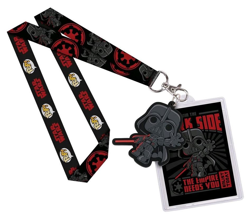 Star Wars POP! Lanyard with Rubber Keychain Darth Vader & Backer Card