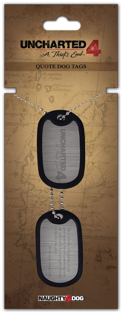 Uncharted 4 Dog Tags with ball chain Quote