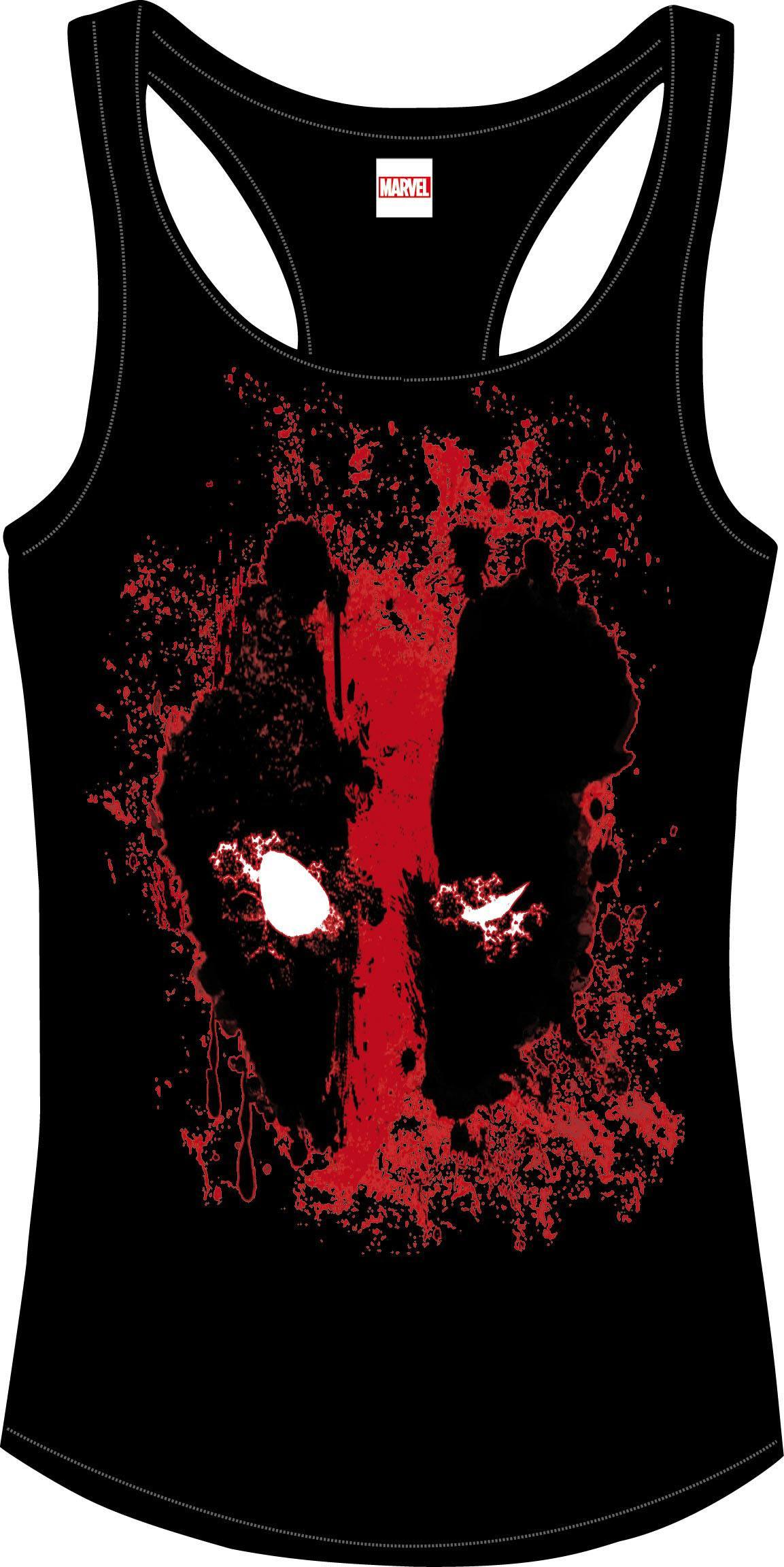 Deadpool Girlie Tank Top Bloody Eyes Size L