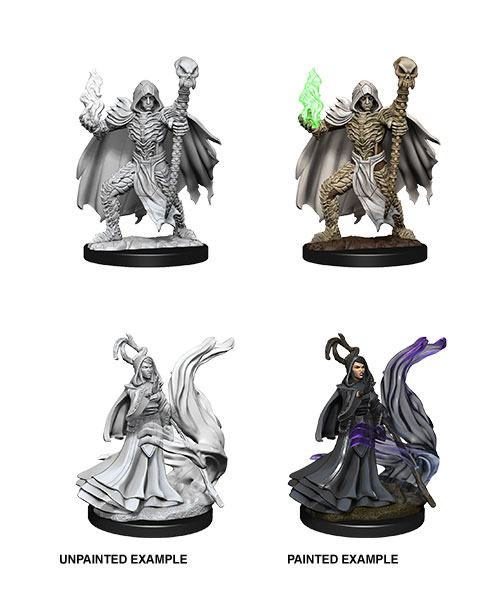 Pathfinder Battles Deep Cuts Unpainted Miniatures Necromancers Case (6)
