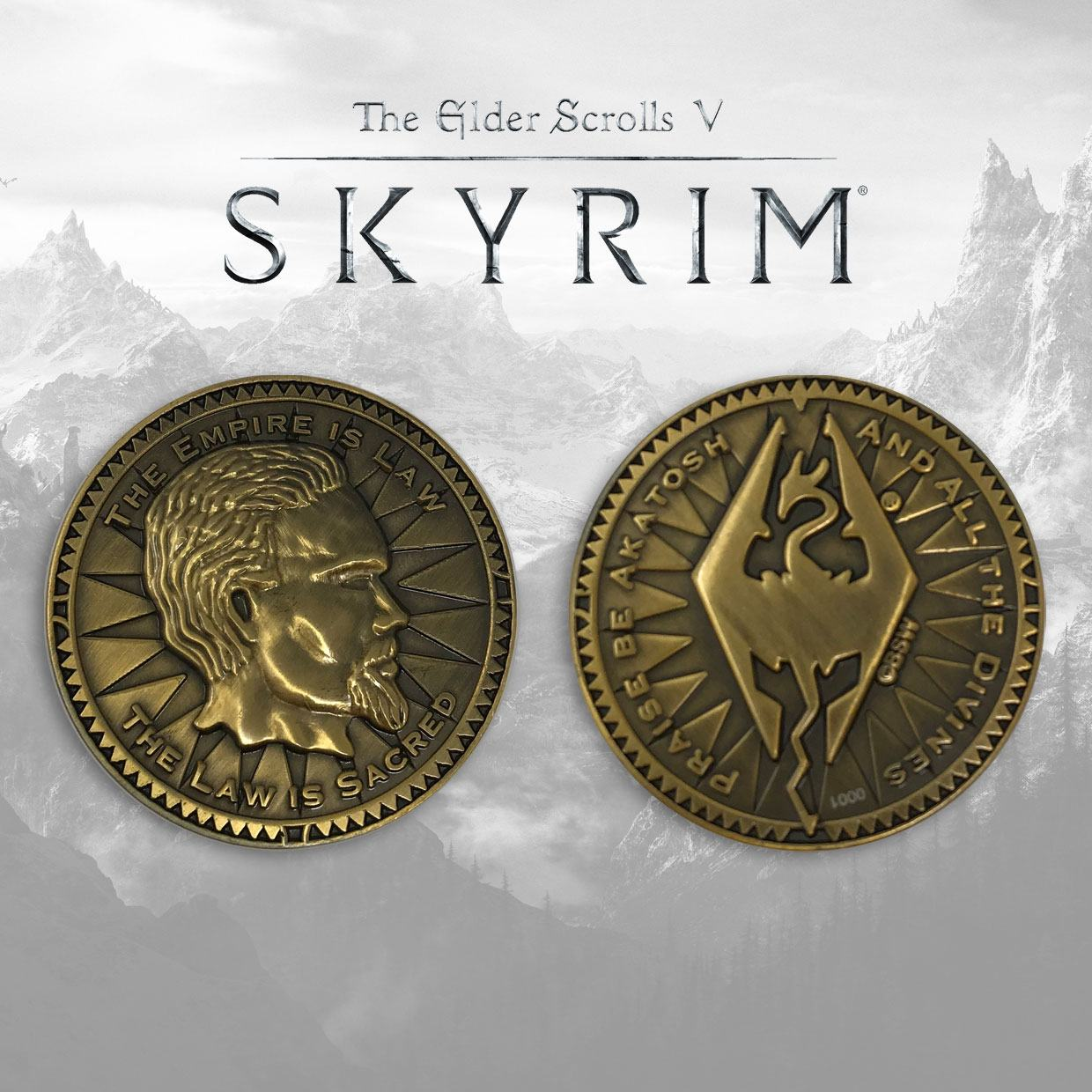 The Elder Scrolls V: Skyrim Collectable Coin The Empire Is Law