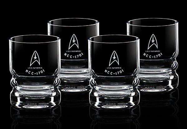 Star Trek Glassware 4-Pack USS Enterprise
