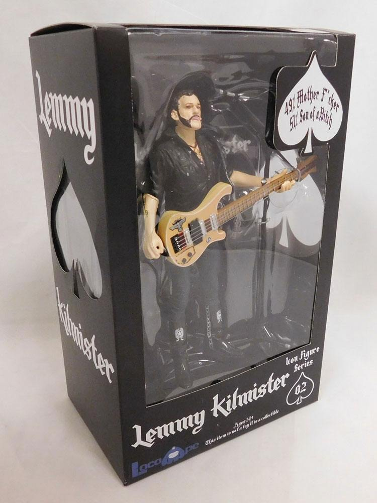 Motörhead Action Figure Lemmy Kilmister Rickenbacker Guitar Eagle 16 cm