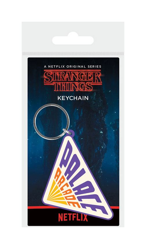 Stranger Things Rubber Keychain Palace Arcade 6 cm