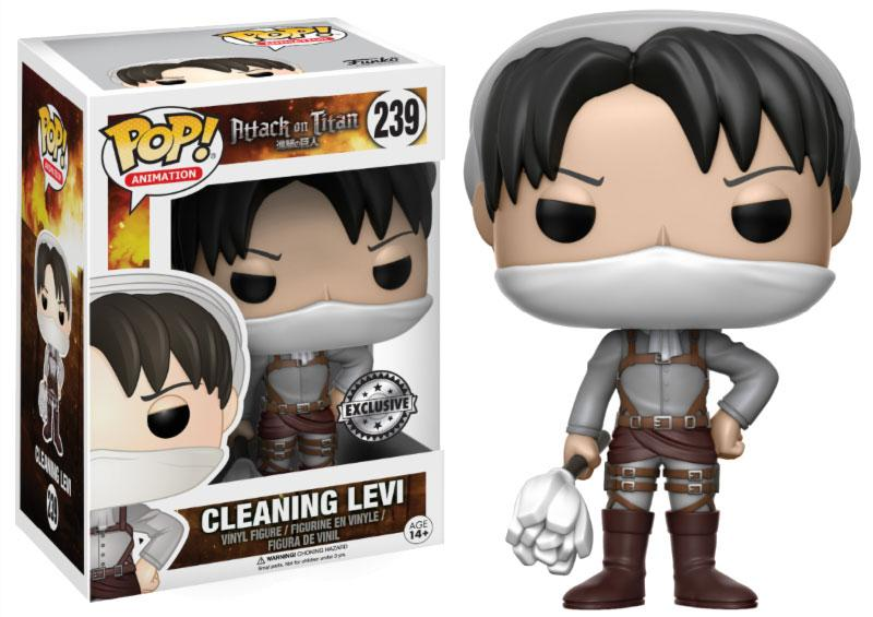 Attack on Titan POP! Animation Vinyl Figure Cleaning Levi 9 cm