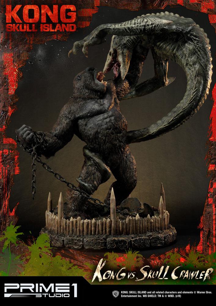 Kong Skull Island Statue Kong vs Skull Crawler 80 cm