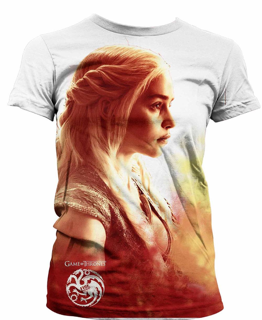 Game of Thrones Ladies Sublimation T-Shirt Daenerys Heatwave  Size XL