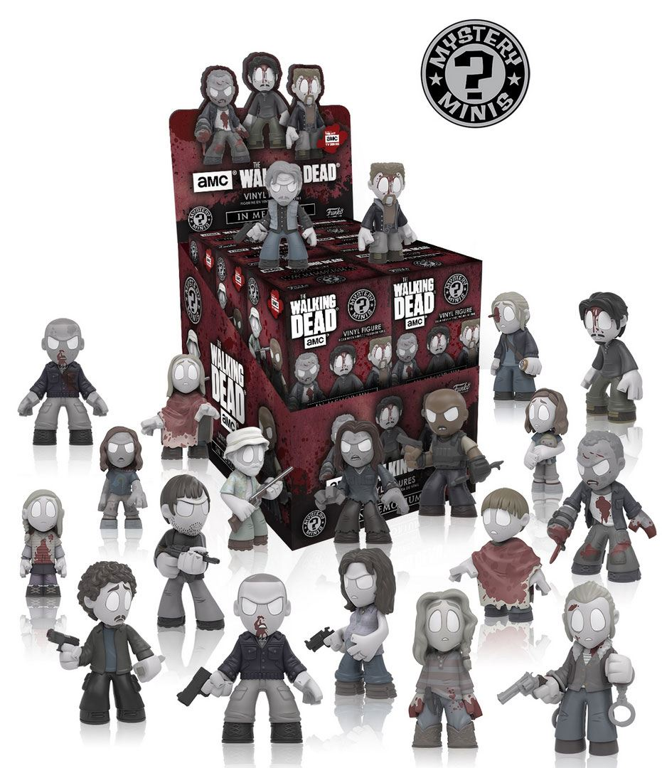 The Walking Dead Mystery Mini Figures 6 cm In Memoriam Display (12)
