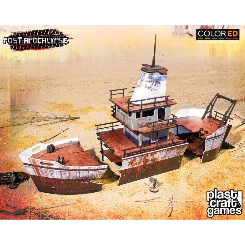 Post Apocalypse ColorED Miniature Gaming Model Kit 28 mm Stranded Ship