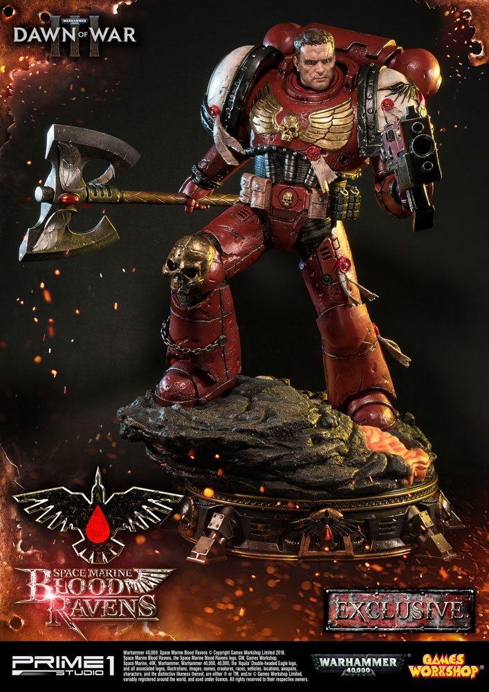 Warhammer 40K Dawn of War III Statue Space Marine Blood Ravens Deluxe Ver. 72 cm