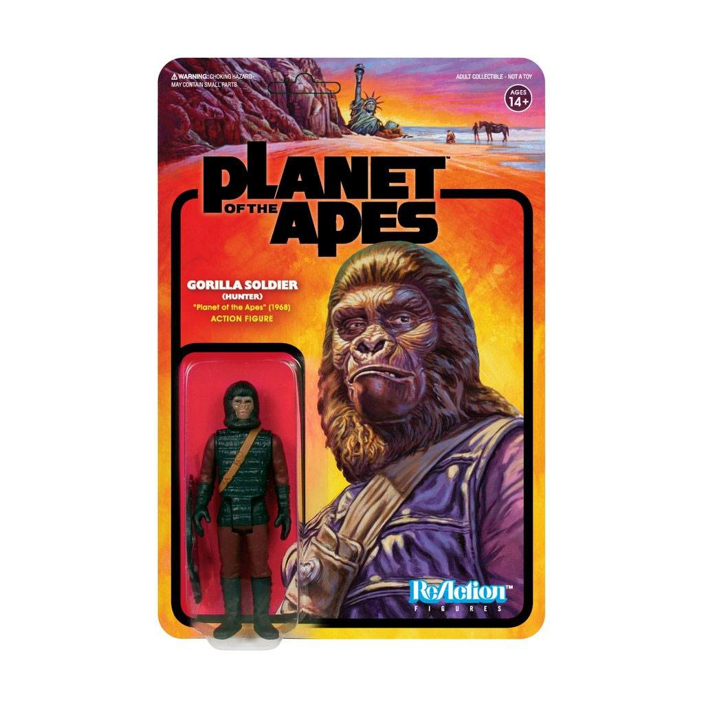 Planet of the Apes ReAction Action Figure Gorilla Soldier (Hunter) 10 cm